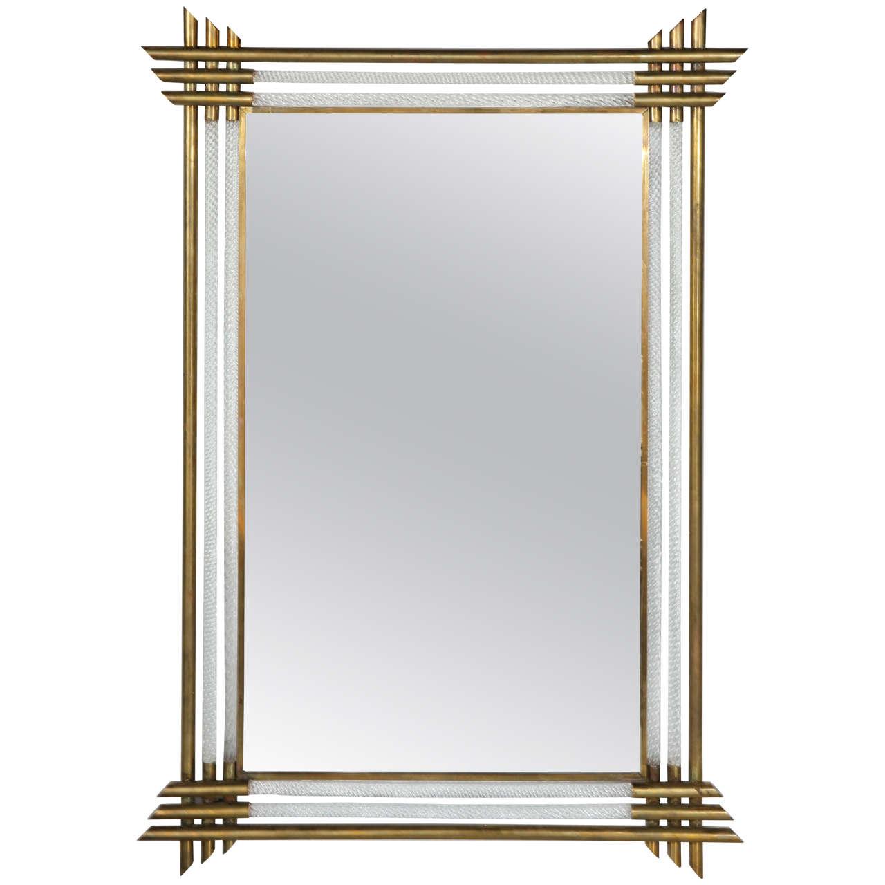 Elegant vintage murano mirror by barovier at 1stdibs for Elegant mirrors