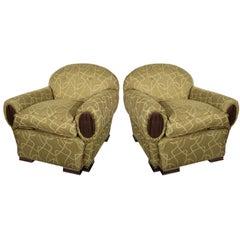 Plush Pair of Club Chairs