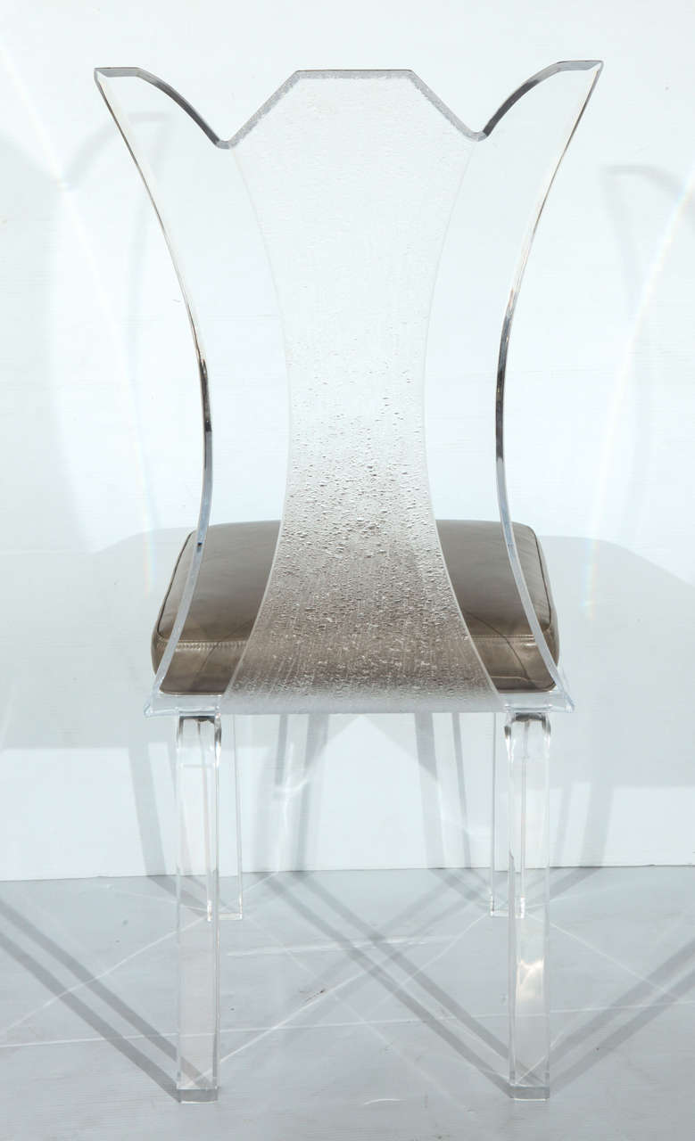 Fantastic Set Of Six Lucite Chairs For Sale At 1stdibs