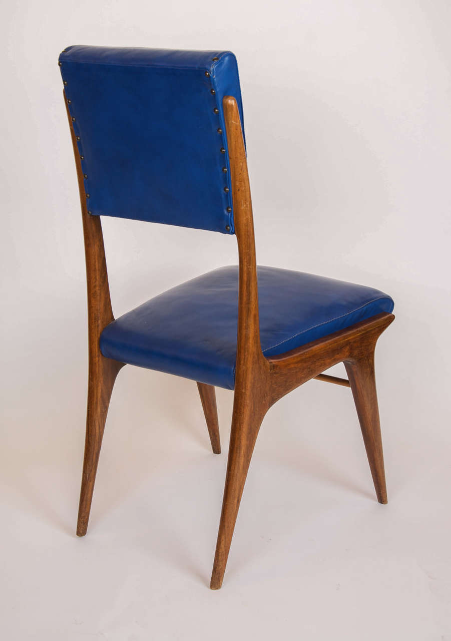 Six Italian Dining Chairs In The Style Of Carlo De Carli