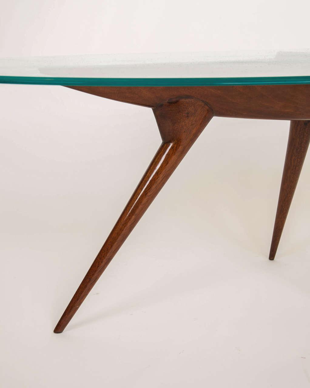1950 39 S Italian Glass Top Coffee Table At 1stdibs