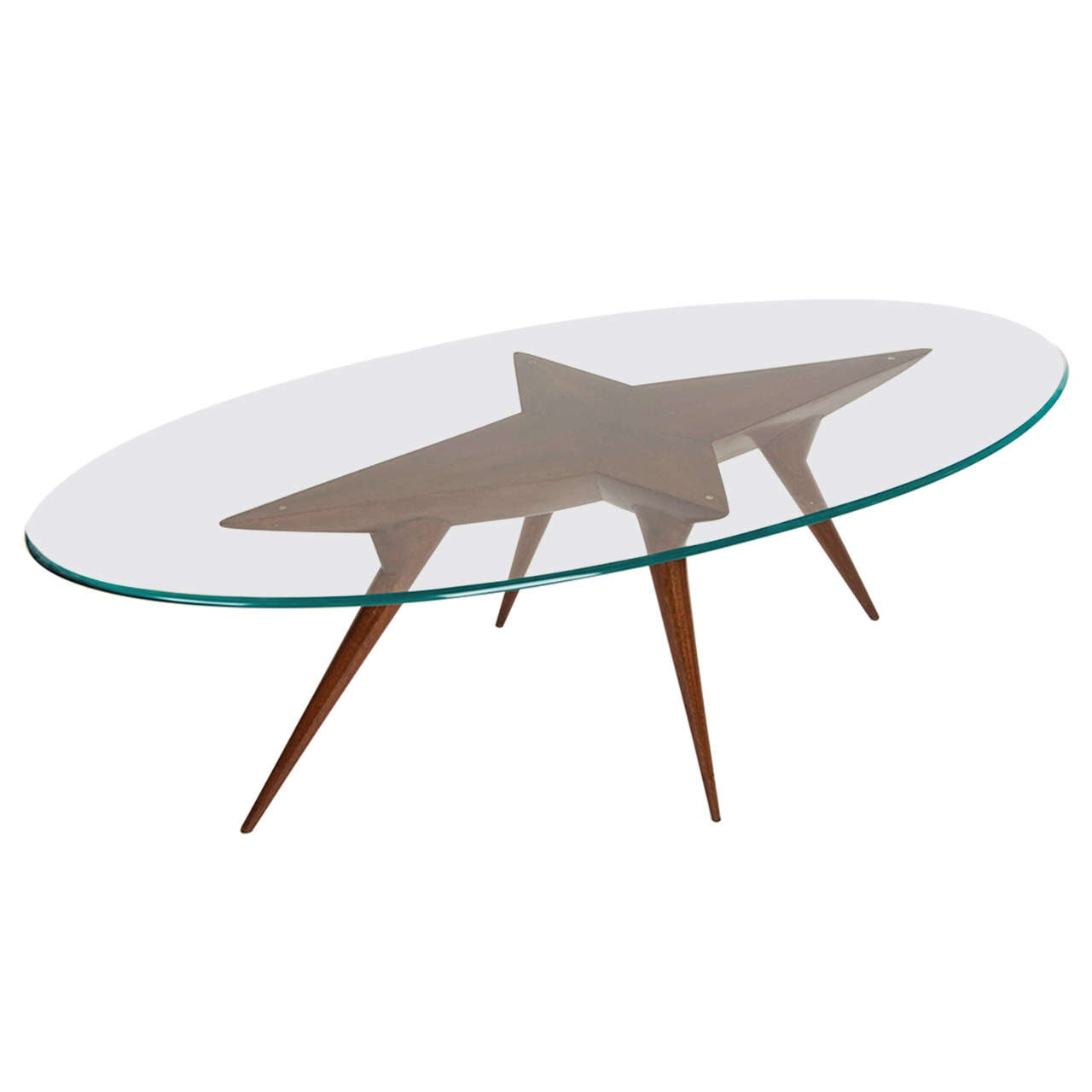 1950 39 S Italian Glass Top Coffee Table At 1stdibs