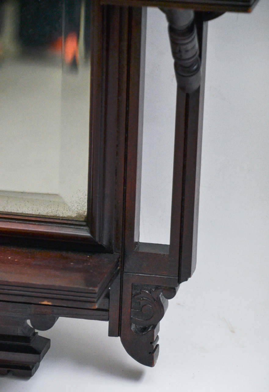 Victorian Mahogany Mirror At 1stdibs