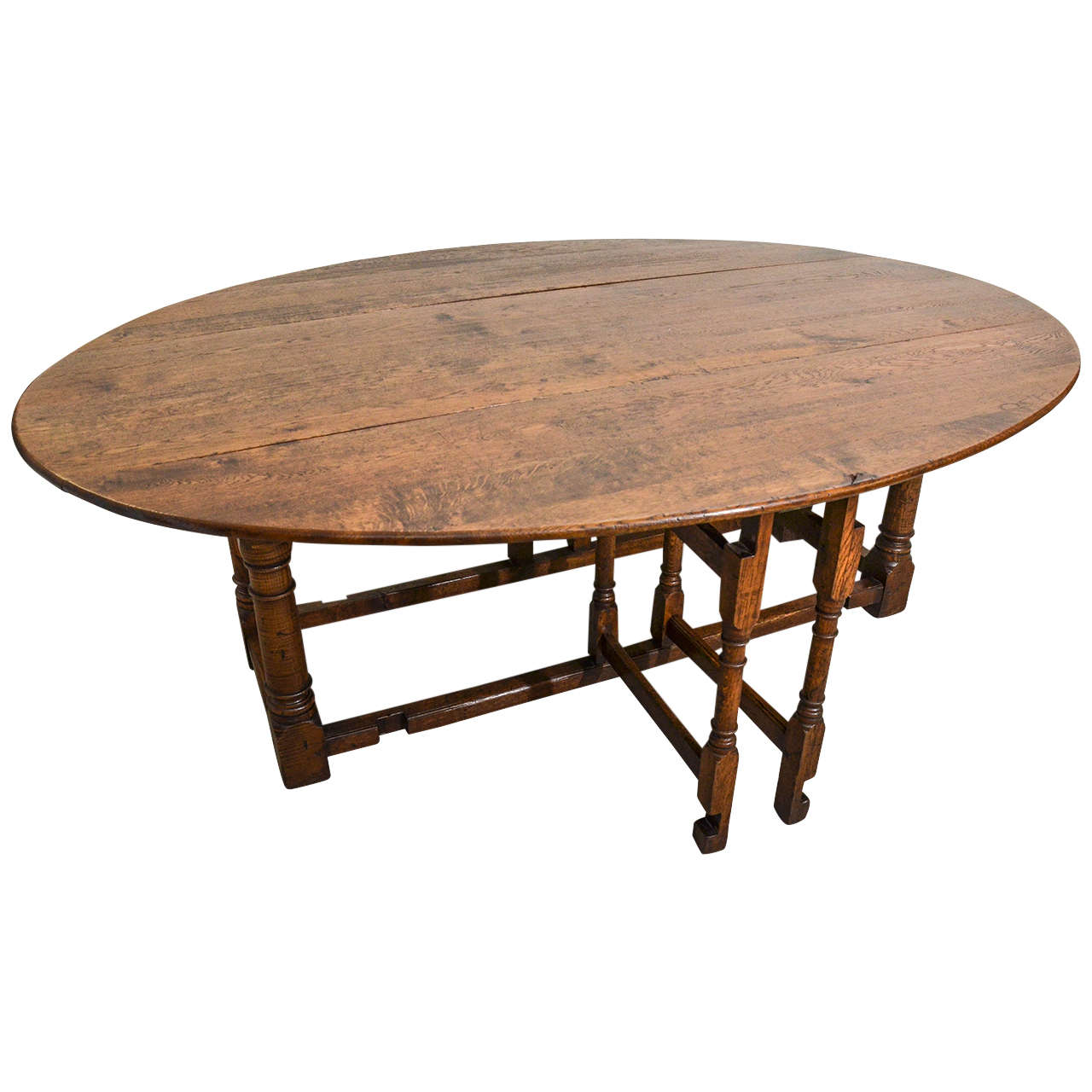 English Oak Gateleg Dining Table at 1stdibs : X from www.1stdibs.com size 1280 x 1280 jpeg 97kB