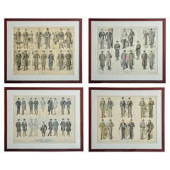 Set of Four Framed Gentleman's Suiting Prints