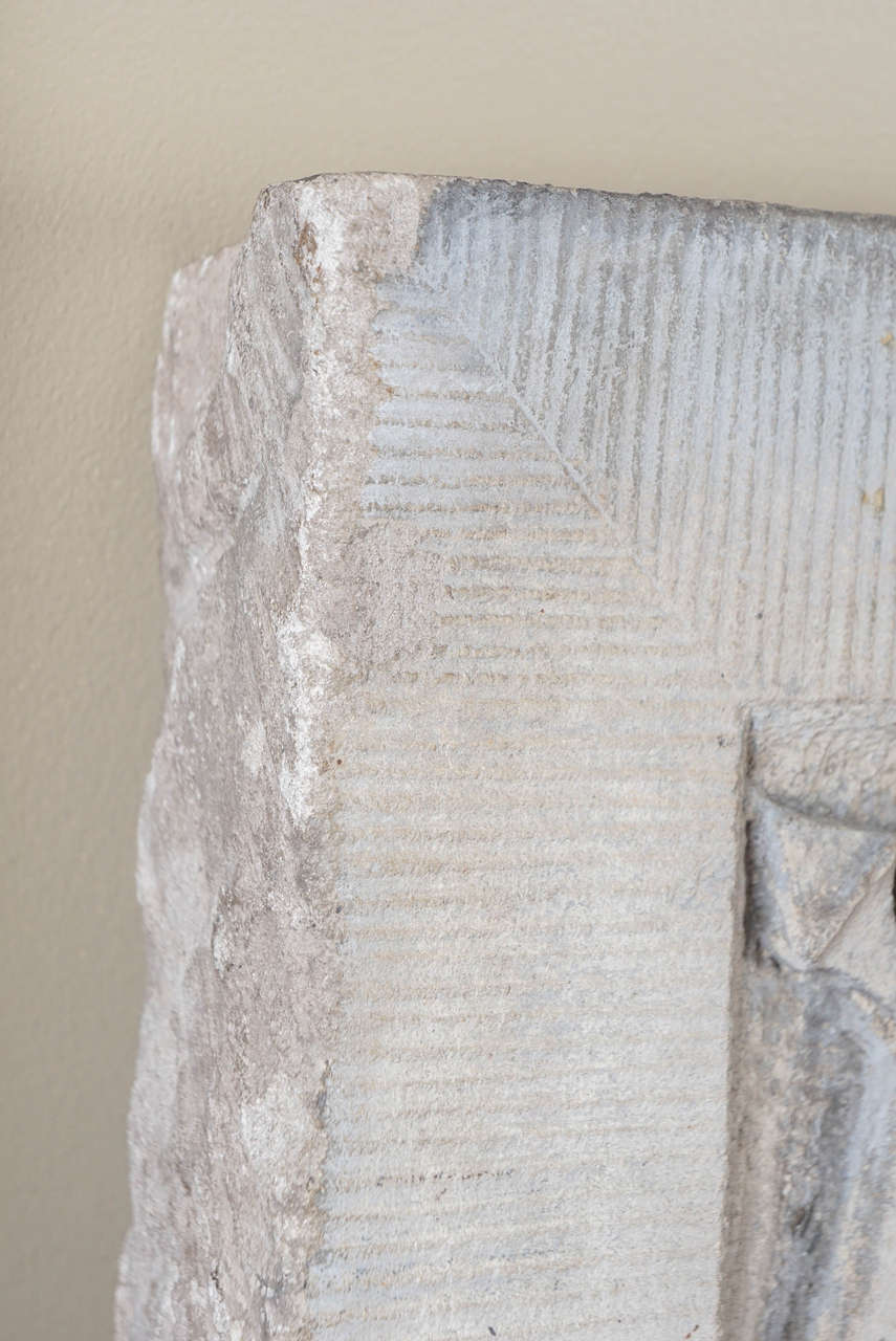 Rare carved limestone american eagle keystone wall street