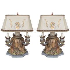 Pair of 19th Century Italian Fragment Lamps