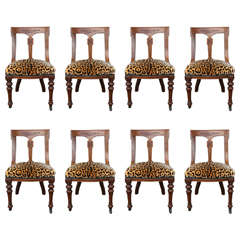 Group of Eight 19th Century French Carved Wood Dining Chairs
