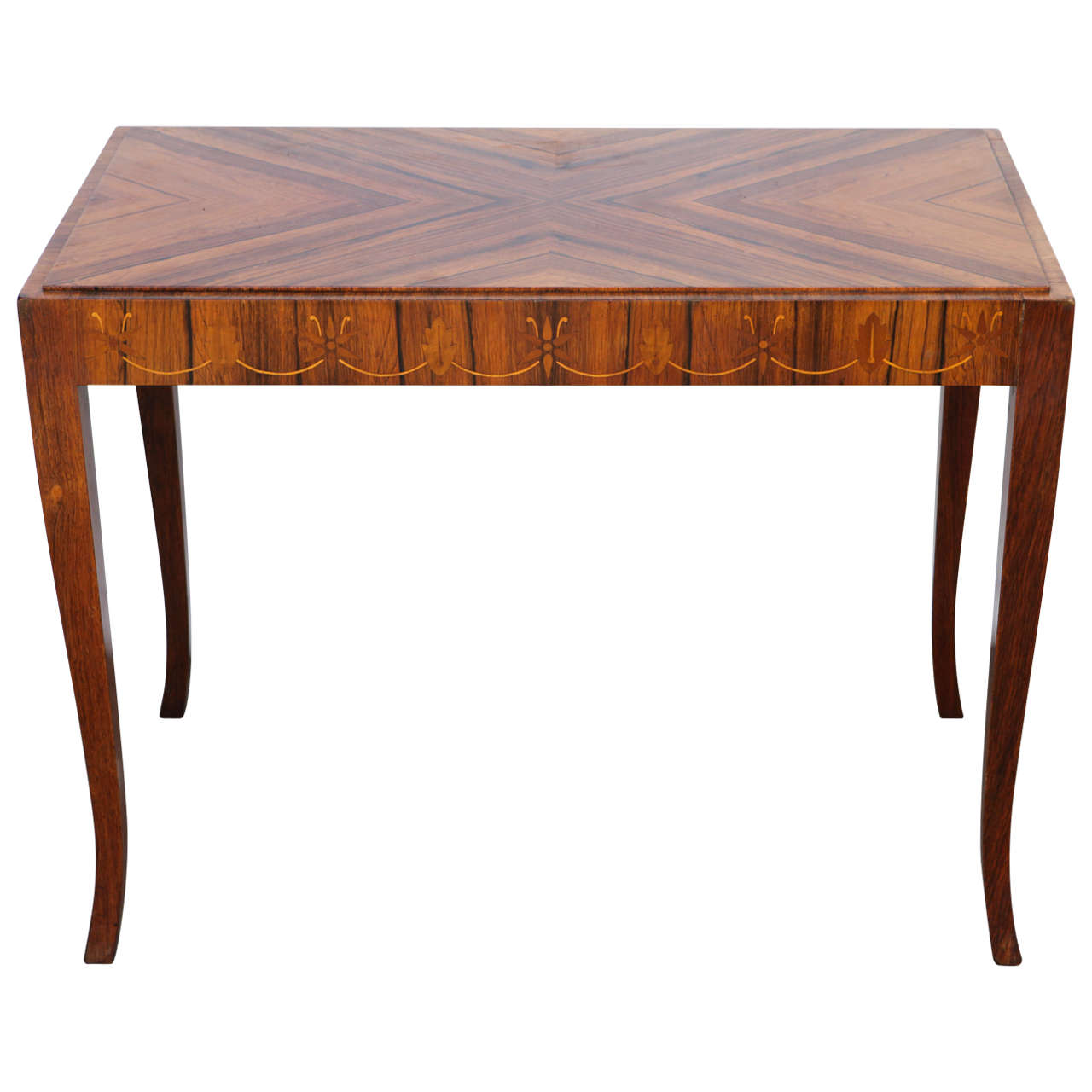 Vintage French Deco Inlaid Occasional Table