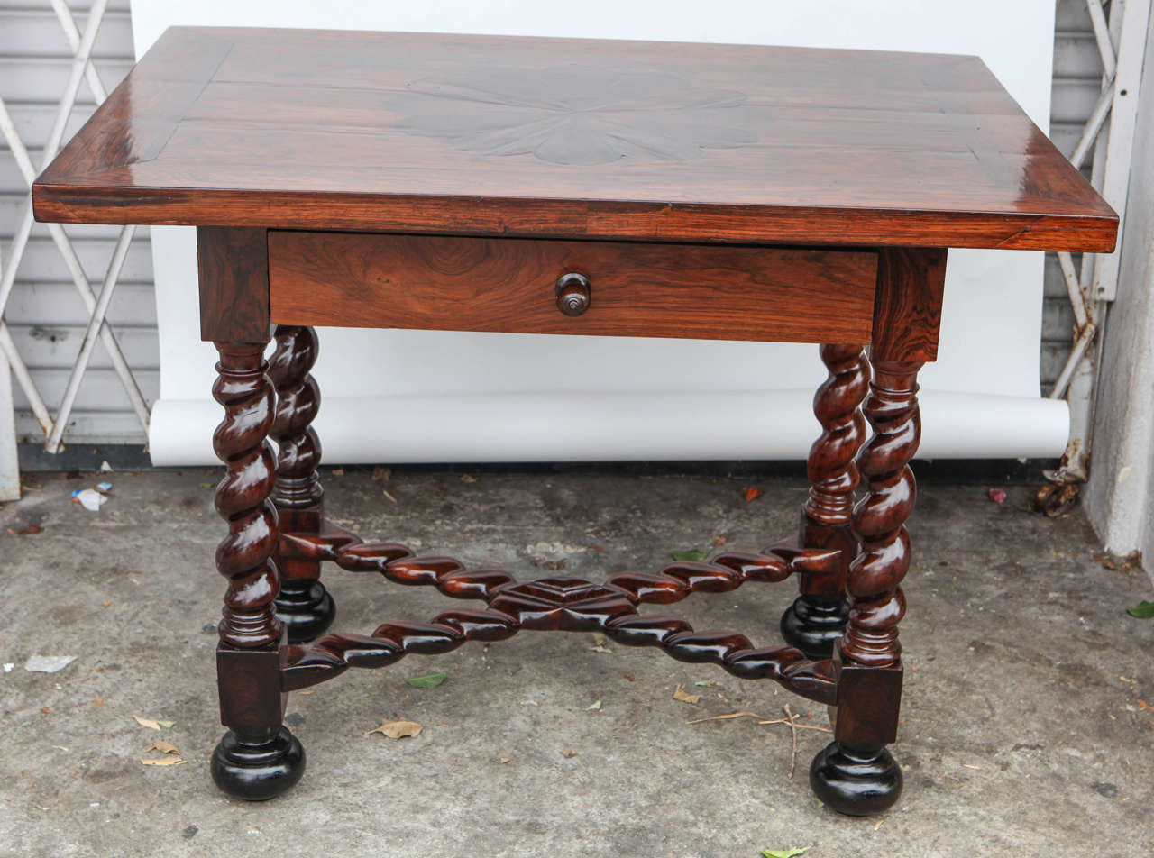 Carved 18th Century Portuguese Rosewood Table For Sale