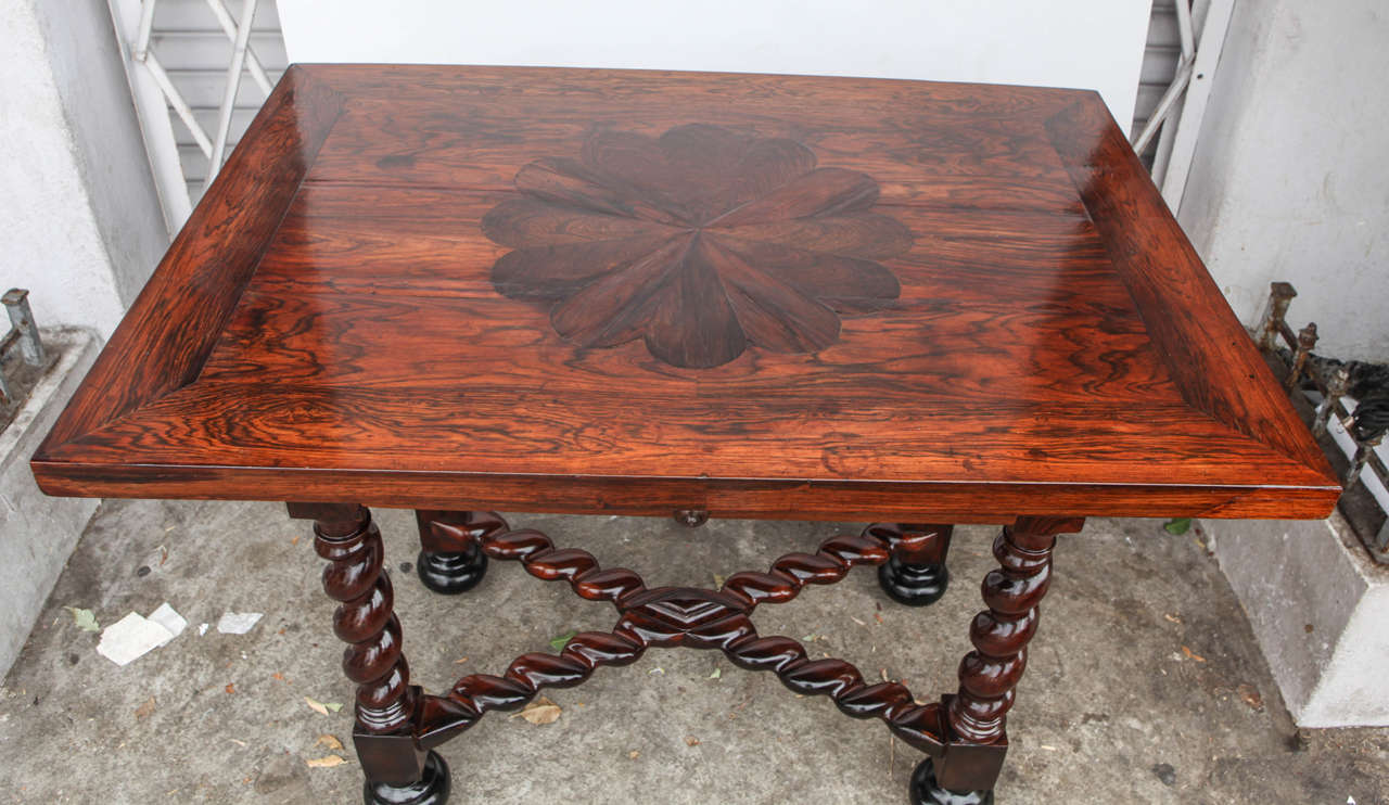 18th Century and Earlier 18th Century Portuguese Rosewood Table For Sale
