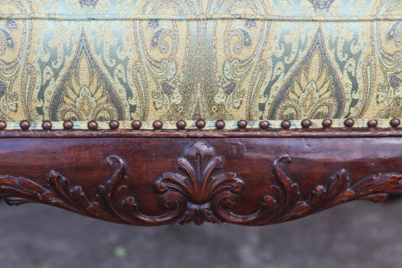 19th Century English Mahogany Bench In Excellent Condition For Sale In Los Angeles, CA