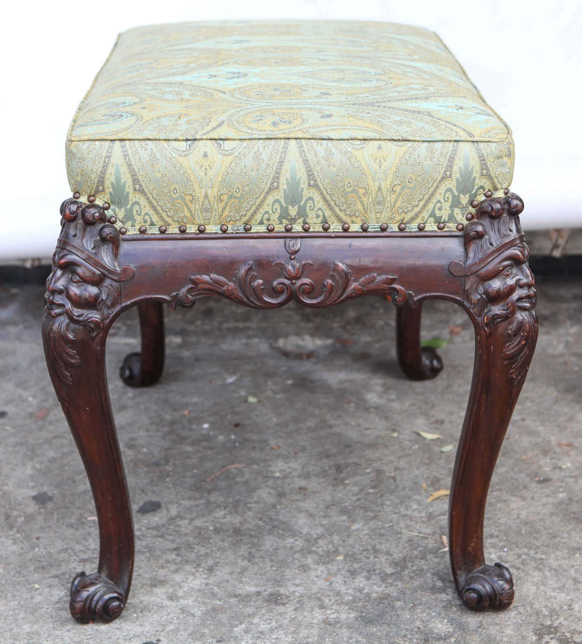 19th Century English Mahogany Bench For Sale 2