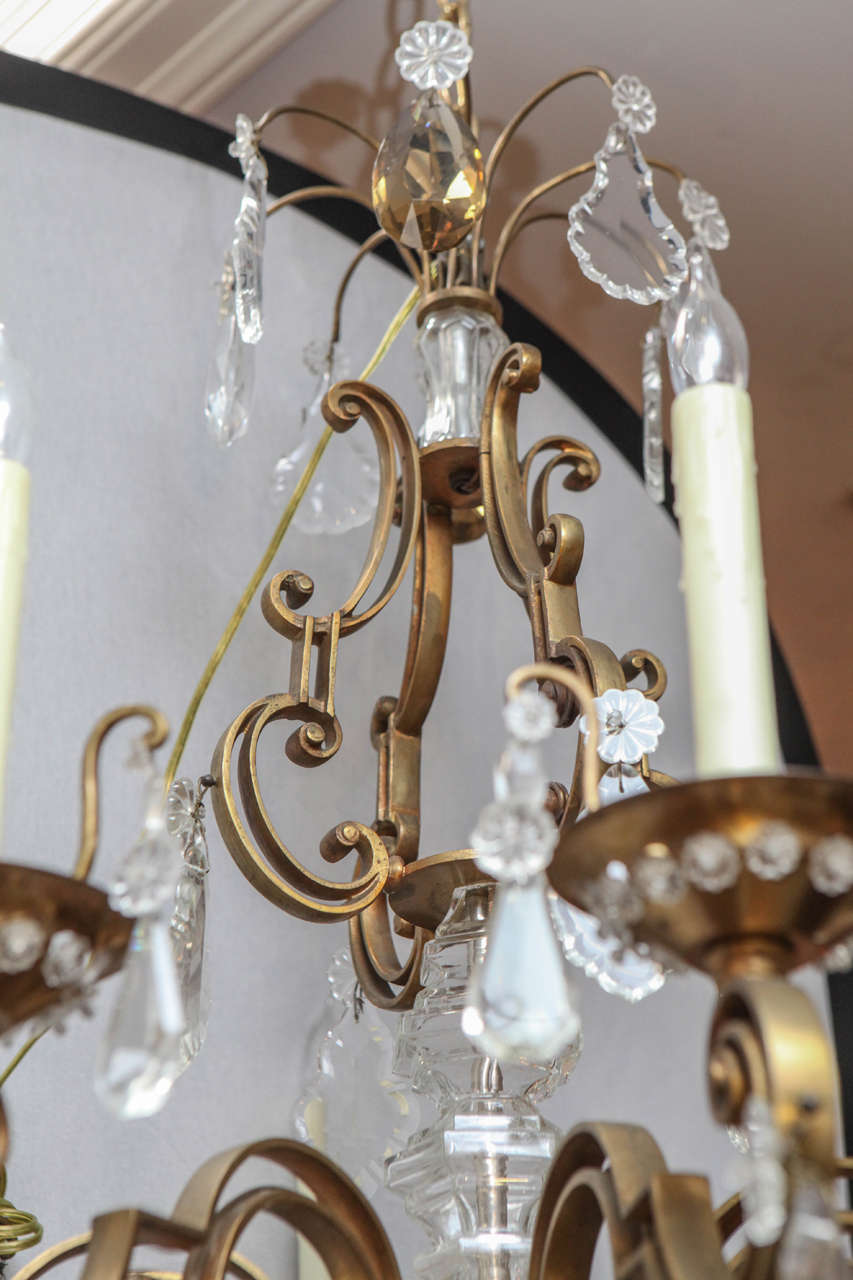 1900s French Bronze Bagues Chandelier For Sale 1