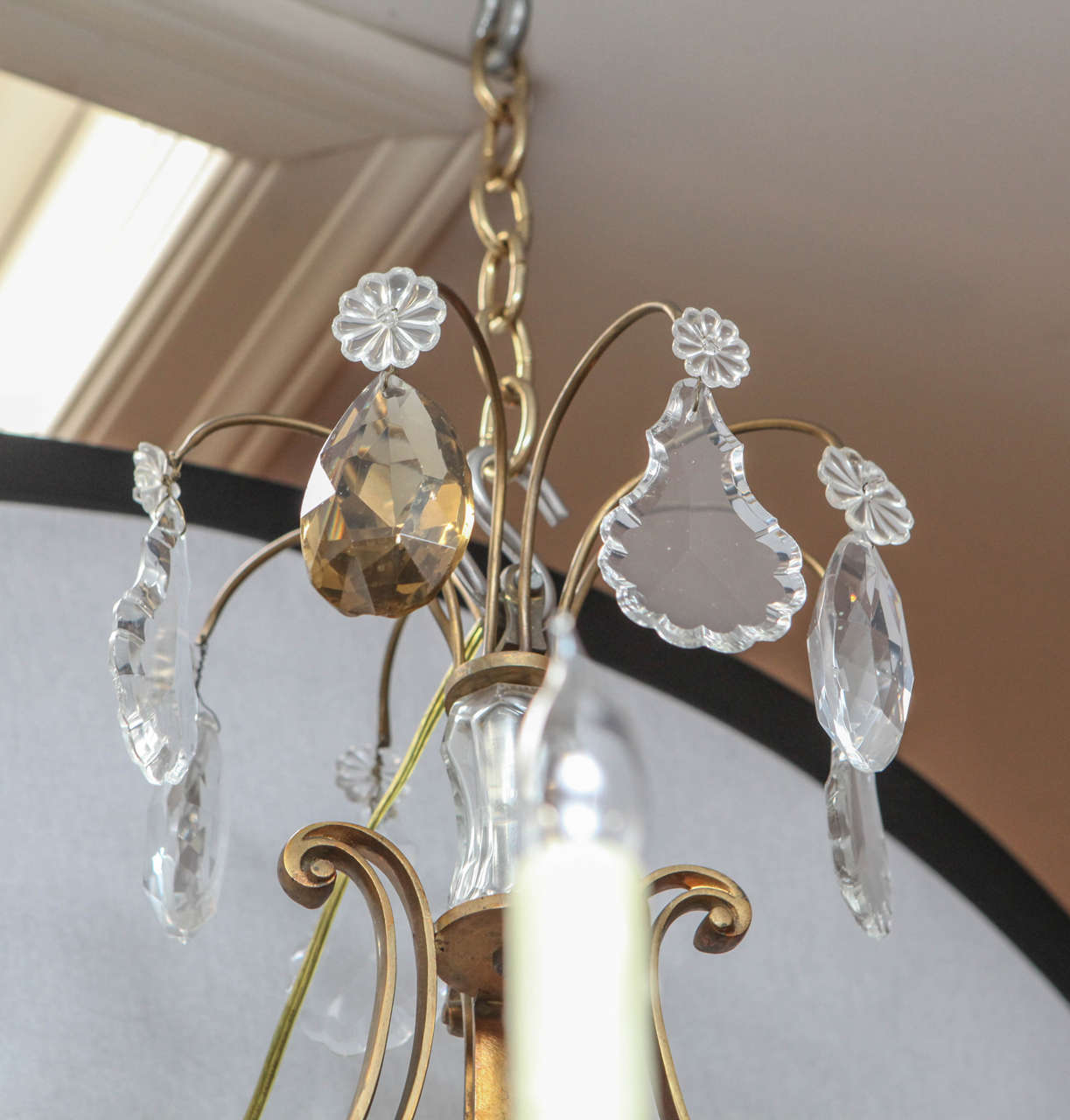 1900s French Bronze Bagues Chandelier For Sale 2