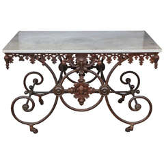 19th c. French Bakers Iron Candy Table