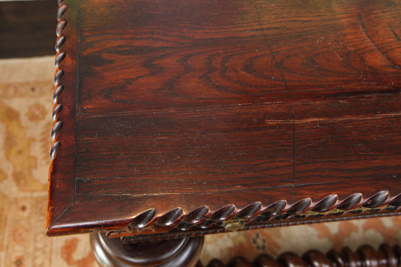 Rosewood 19th Century Monumental Portuguese Writing Table or Desk For Sale