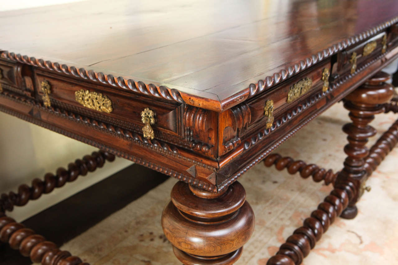 19th Century Monumental Portuguese Writing Table or Desk For Sale 4