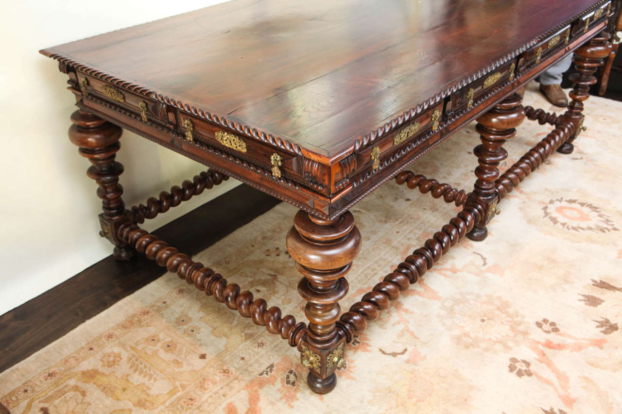 19th Century Monumental Portuguese Writing Table or Desk For Sale 5