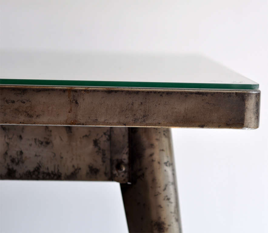 Art Deco Industrial Metal Bistro Table by Xavier Pauchard for Tolix, 1930s 3