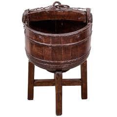 Antique Cypress Water Bucket