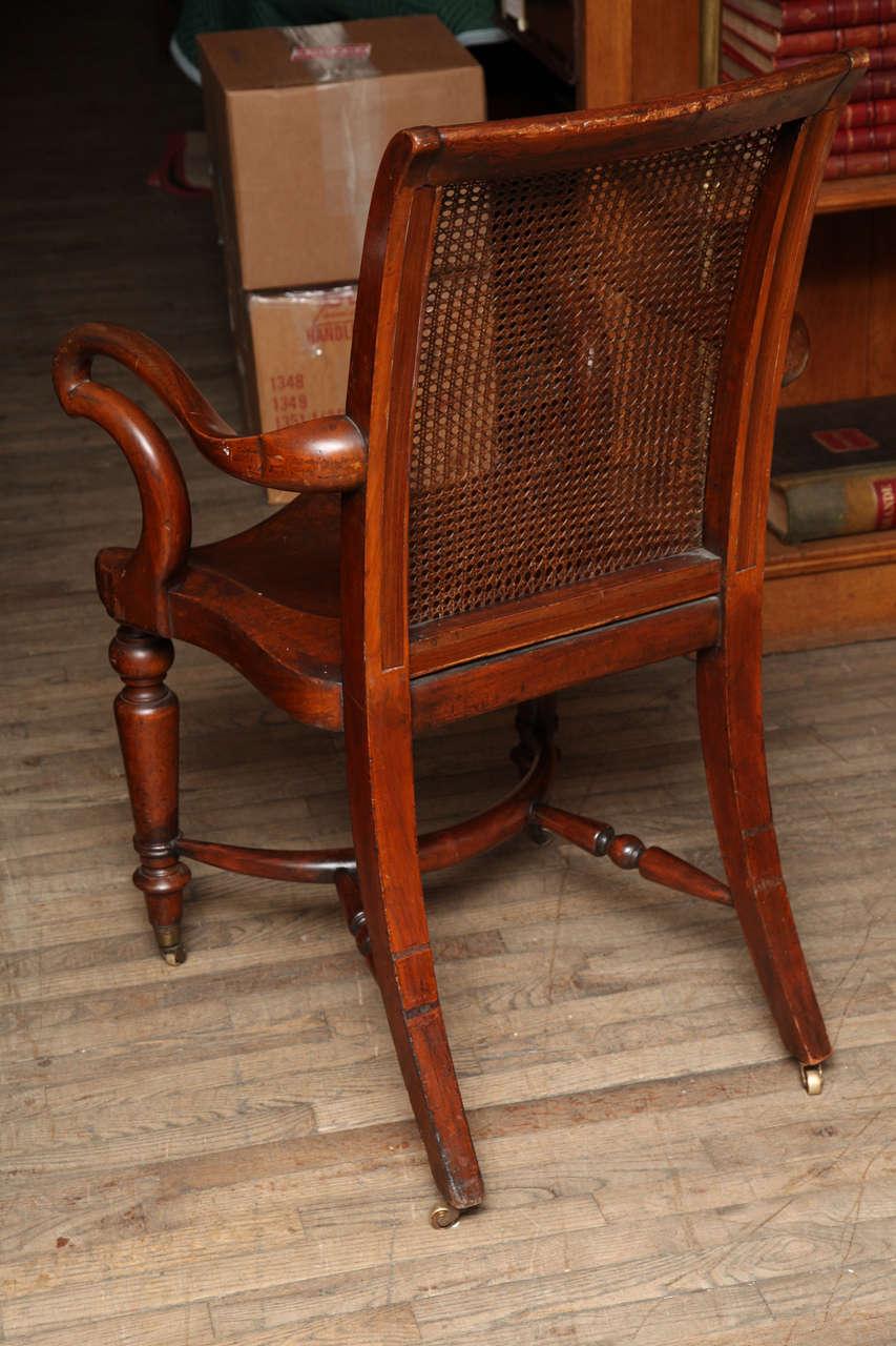 Large Mahogany Desk Chair W Saddle Seat At 1stdibs