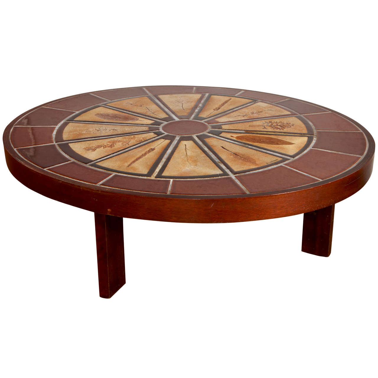Roger Capron 1970 Tile Coffee Table Garrigue Collection Vallauris