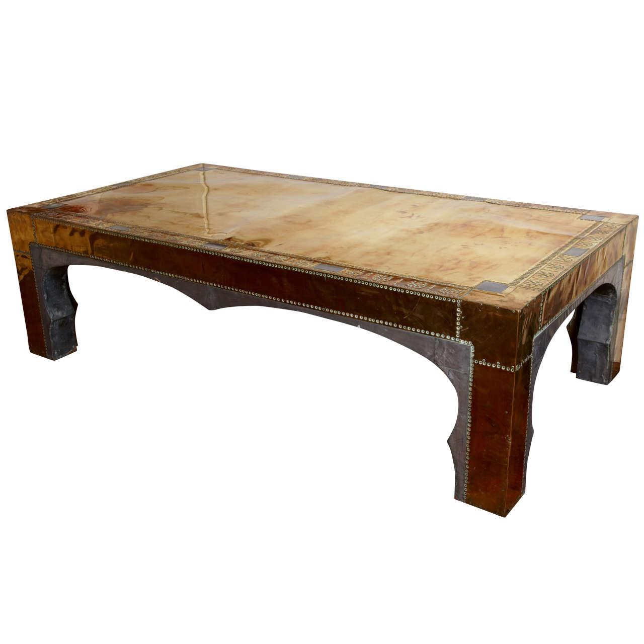 Massive mid Century Orientalist   Coffee Table