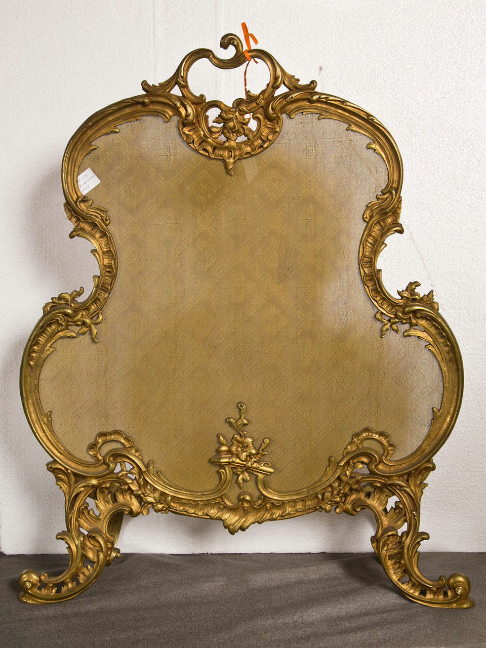 French rococo style gilt bronze fireplace fender at 1stdibs for French rococo fashion