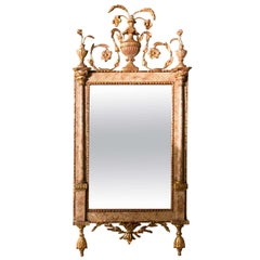 Antique 18th Century Neoclassical Style Marble Mirror