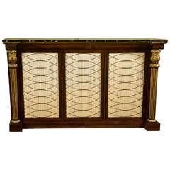 Regency Style Rosewood Cabinet Server