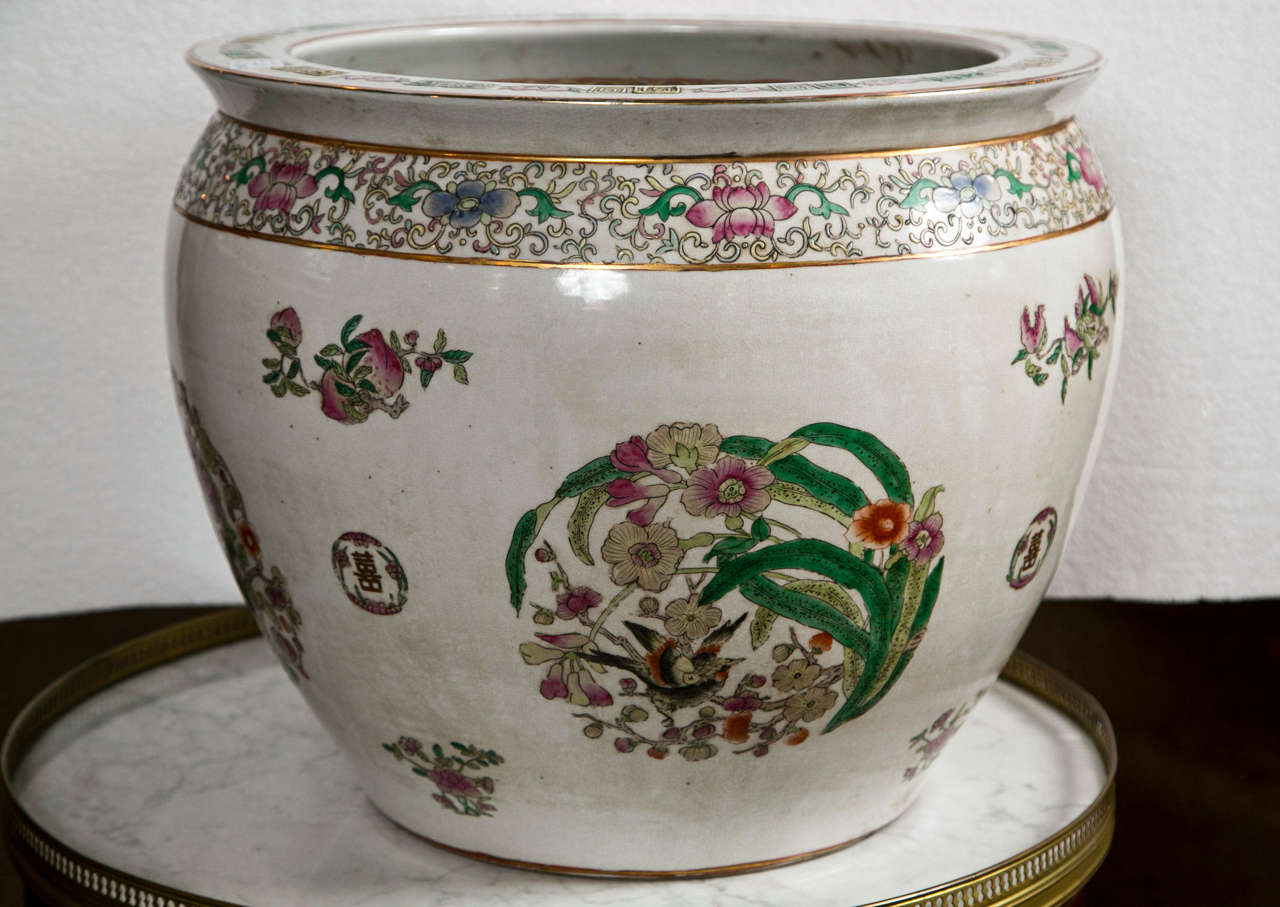 Large Famile Rose Chinese Export Fish Bowl For Sale At 1stdibs