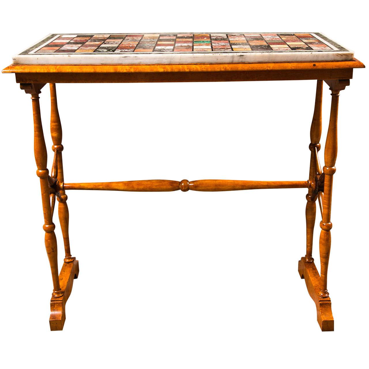 Fine 19 Century Regency Speciman Top Side Table