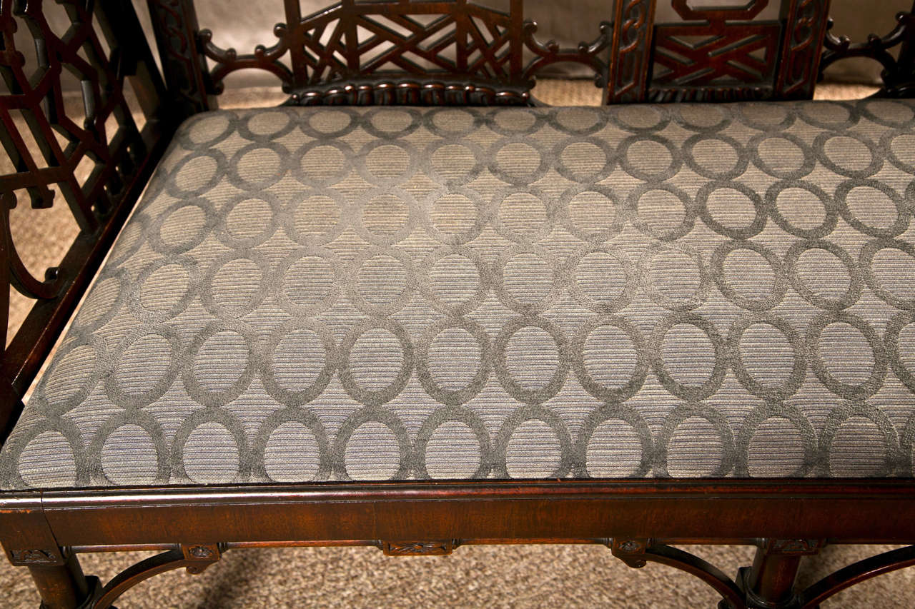 English Antique Chinese Chippendale Settee - Canape For Sale