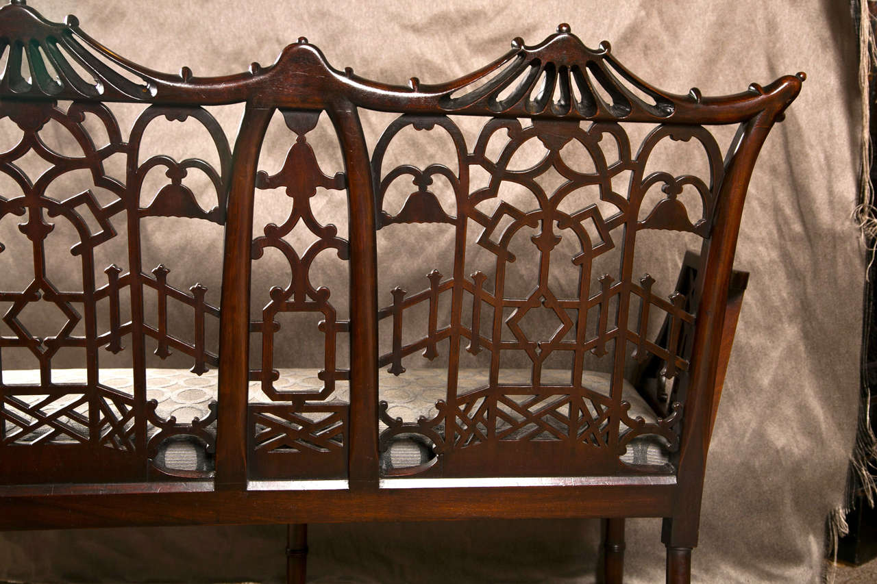 Antique Chinese Chippendale Settee - Canape For Sale 4
