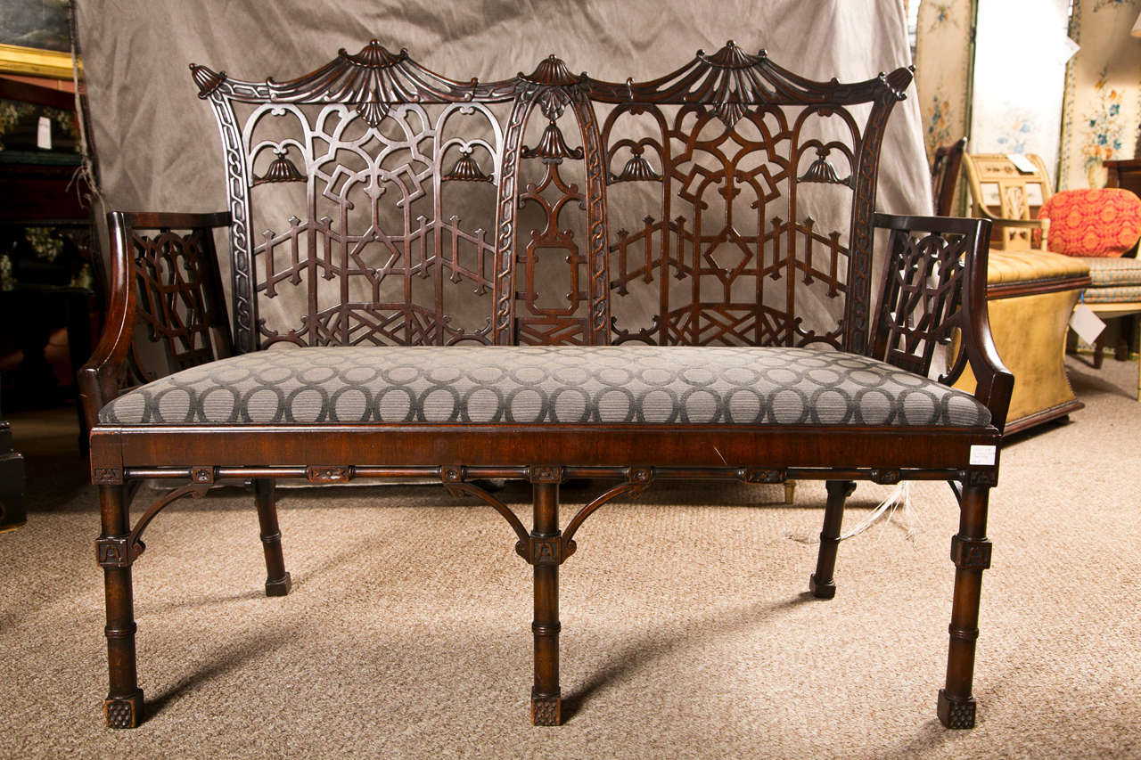 Antique Chinese Chippendale Settee - Canape For Sale 5