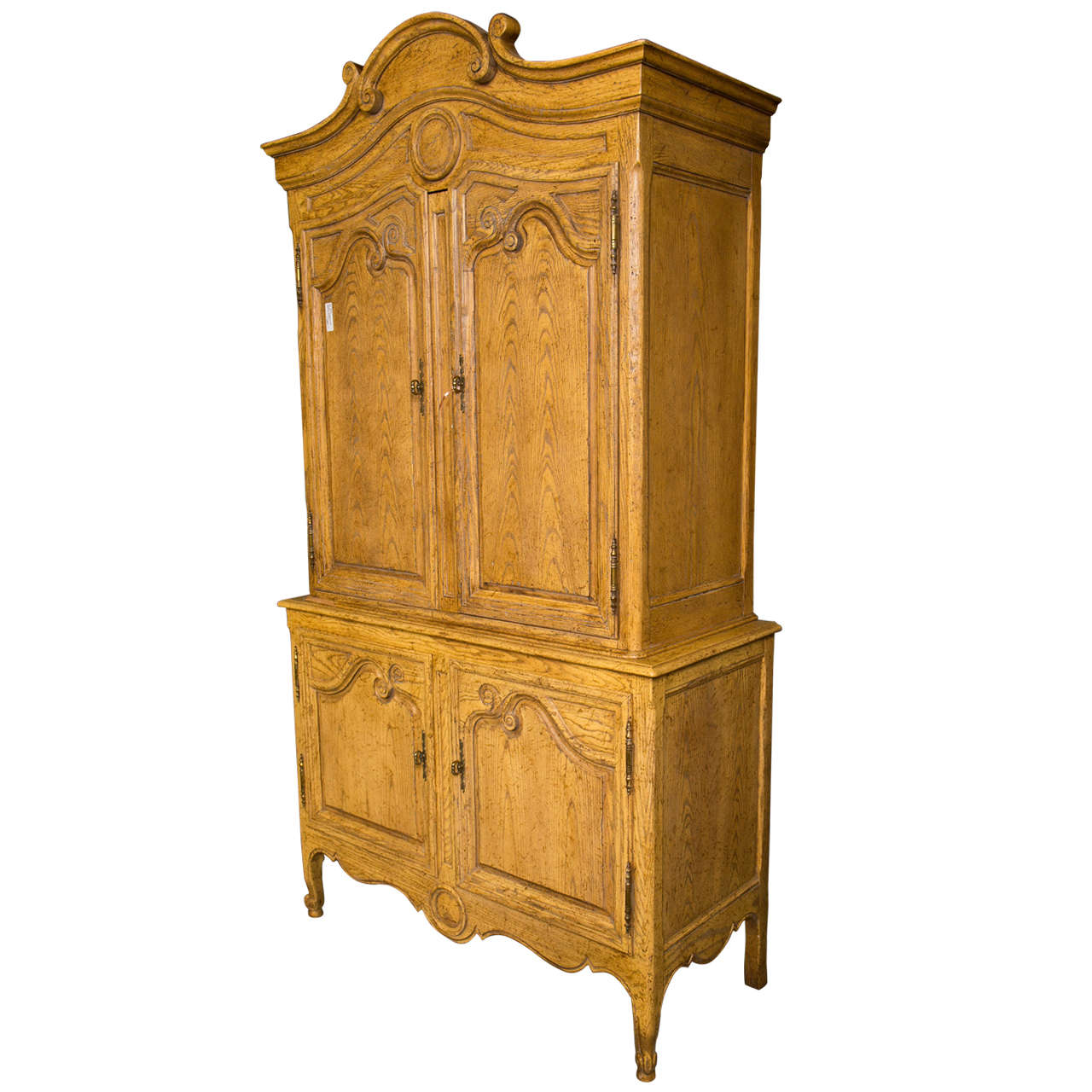 Merveilleux Country French Armoire Cabinet By Baker Furniture Company For Sale