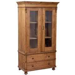 Pine Glazed Cupboard
