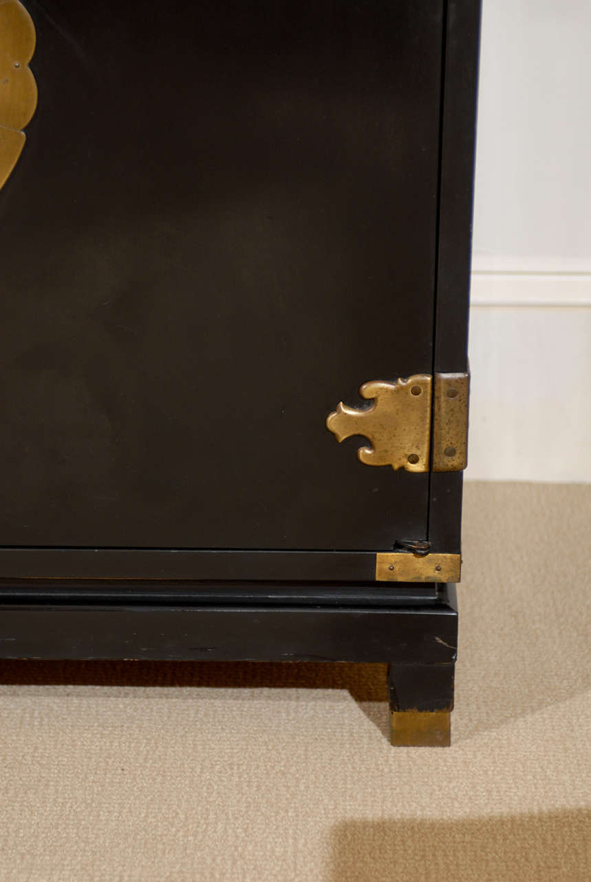 Michael Taylor Style Four Door Cabinet At 1stdibs