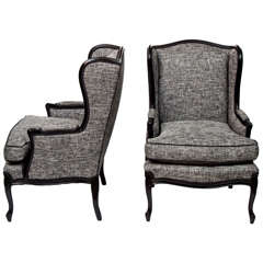 Pair of Tall Wingback Chairs