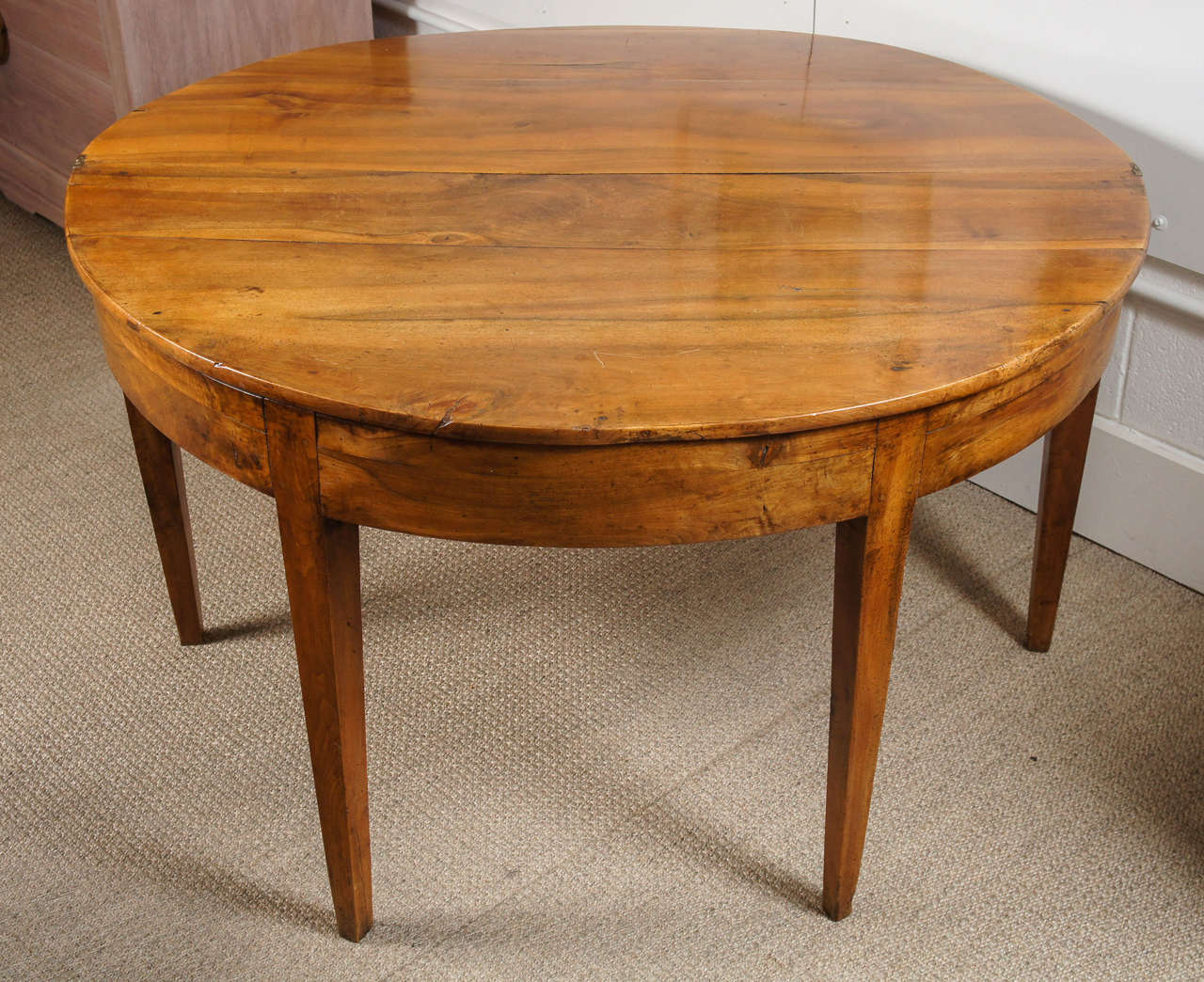 Beautiful light walnut folding table at 1stdibs for Table console retractable