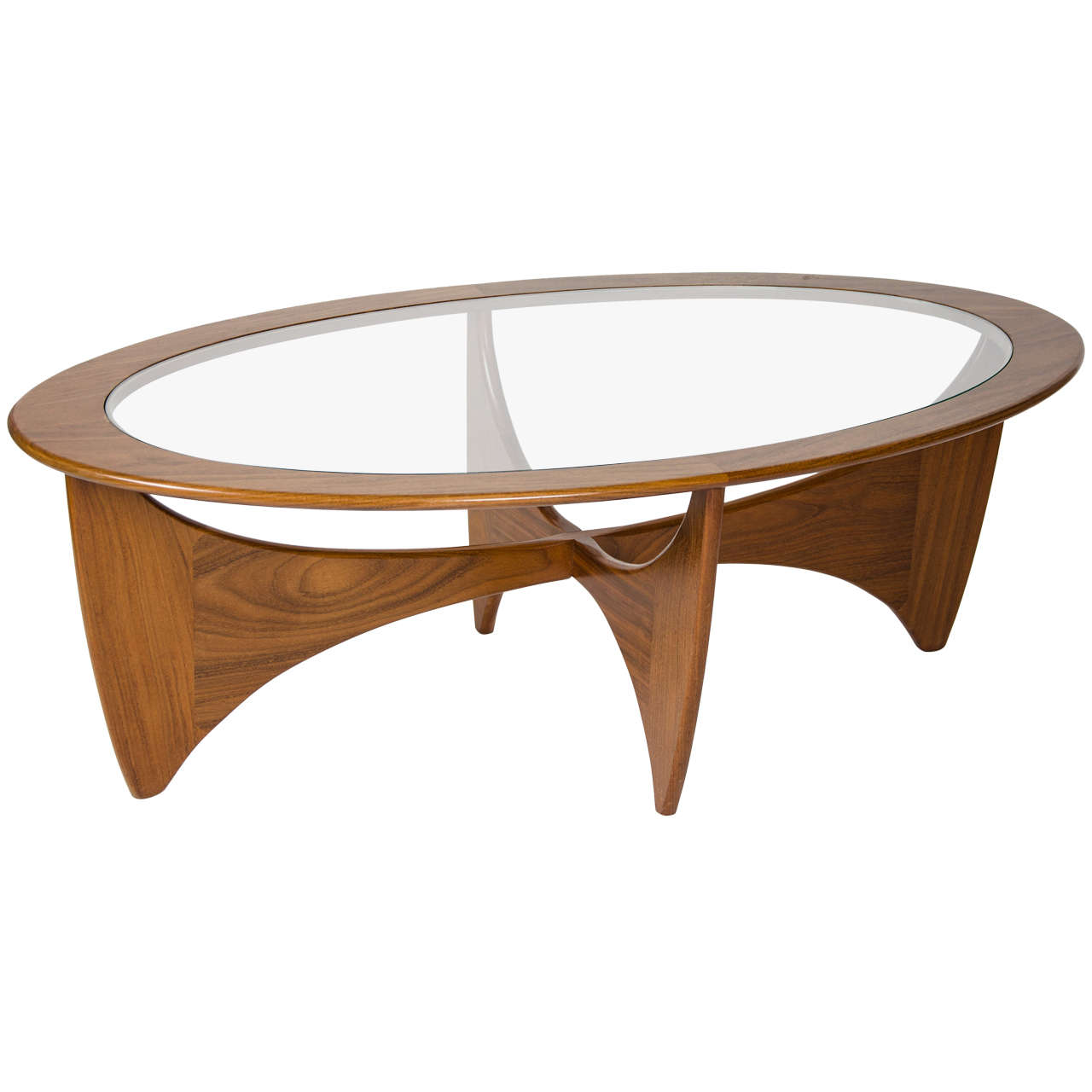 Teak Burger Coffee Table: Teak And Glass Coffee Table At 1stdibs