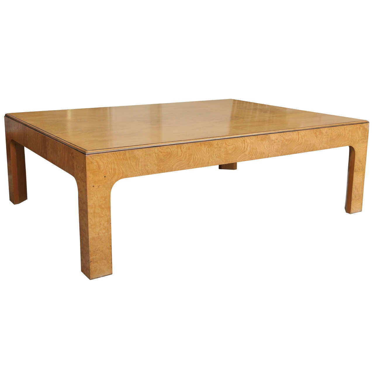 Milo Baughman Burled Wood Coffee Table At 1stdibs