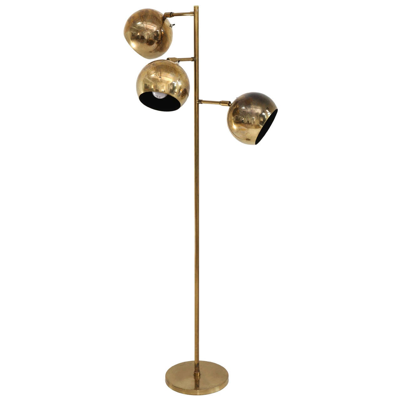 Koch And Lowy Brass Floor Lamp At 1stdibs