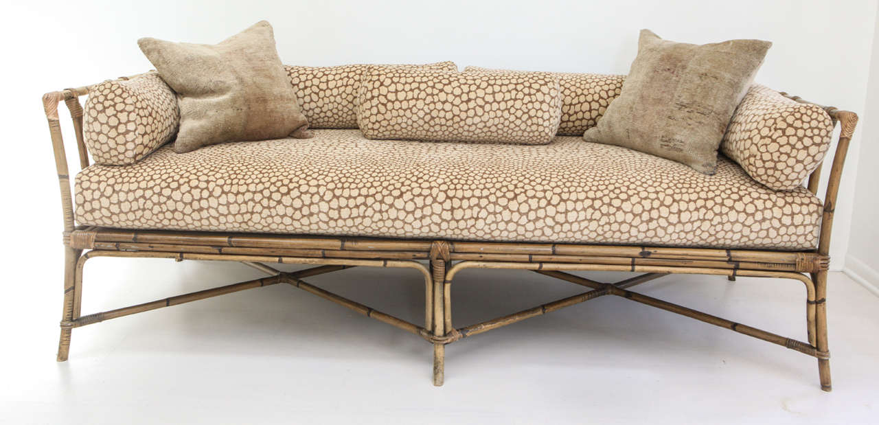 Vintage Bamboo Daybed Sofa 2
