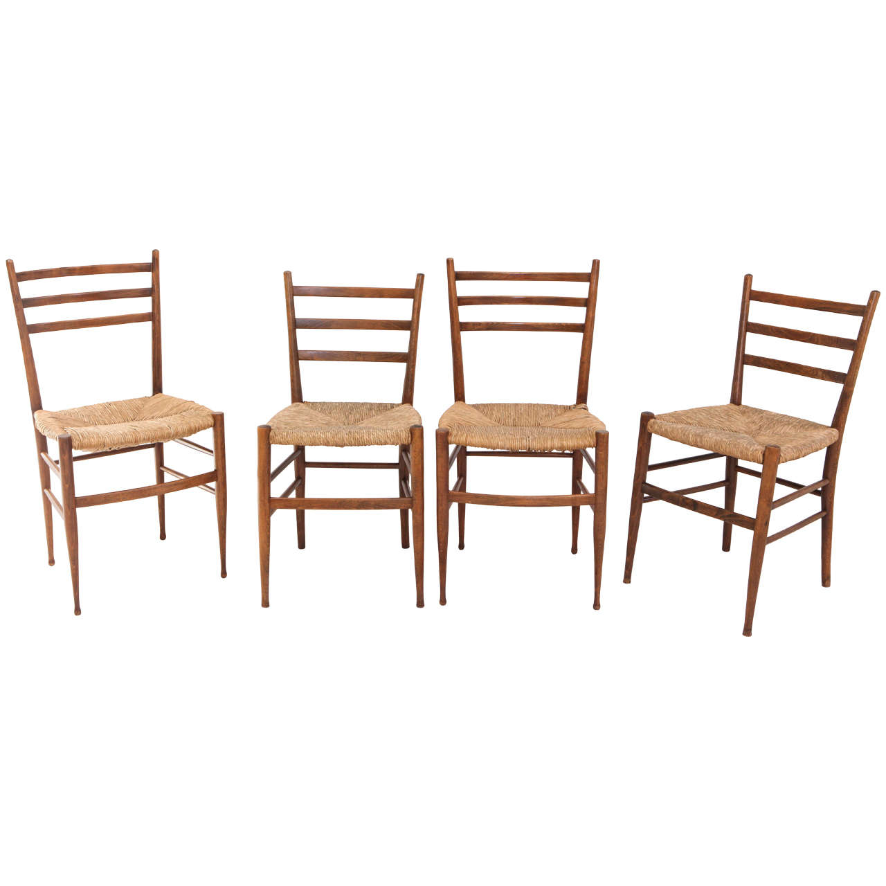 Marvelous photograph of Set of Four Vintage Italian Dining Chairs with Rush Seats at 1stdibs with #462419 color and 1280x1280 pixels