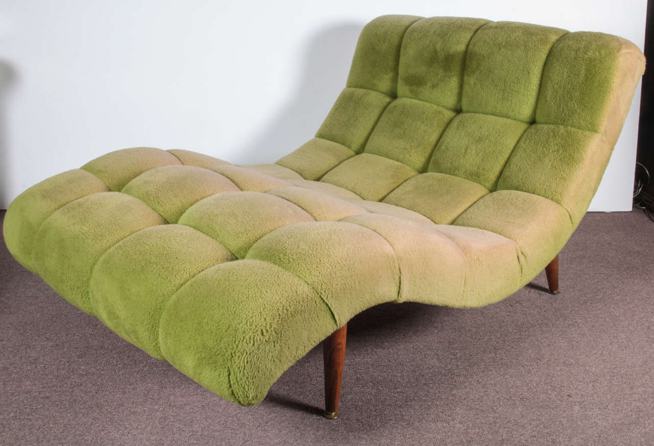 Mid Century Modern Modernist Wave S Curve Lounge Chair Chaise Adrian