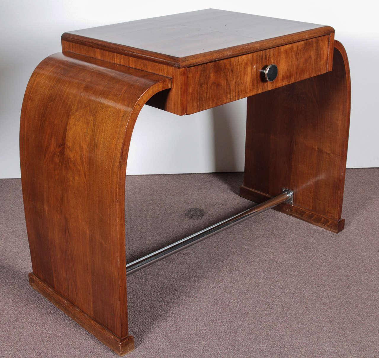 French Art Deco Walnut Desk/ Dressing Table  Circa 1925 2
