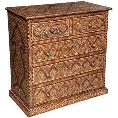 Bone Inlaid Chest of Drawers