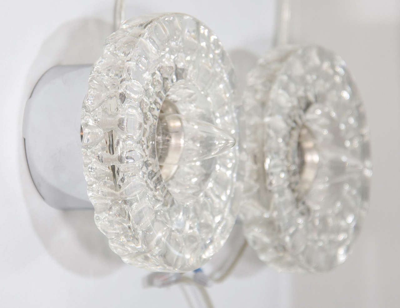 Pair of Round Glass Barovier & Toso Sconces 5